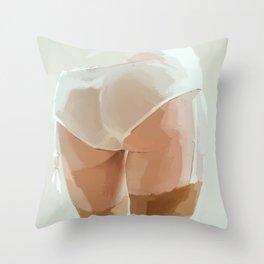tushie 1 Throw Pillow