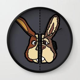 Old & New Peppy Hare Wall Clock