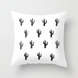 Saguaro Stamp Throw Pillow