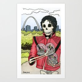 Unnamed Undead Guy, St. Louis Arch, Snow Globes Art Print