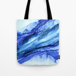 Cracked Blue Marble Tote Bag