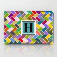 monogram iPad Cases featuring H Monogram by mailboxdisco
