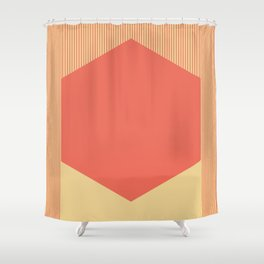 Red Hex Shower Curtain