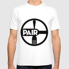 Food And Wine Pairing SMALL White Mens Fitted Tee