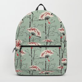 Japanese style fan and bamboo pattern Backpack