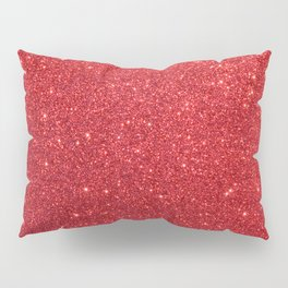 Ruby Red July Leo Birthstone Shimmering Glitter Pillow Sham