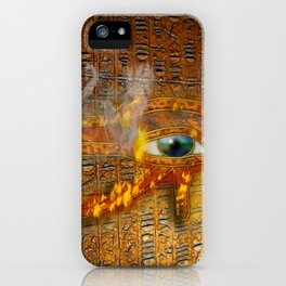 The Prophecy of Fire - Ancient Egypt Eye of Horus iPhone Case