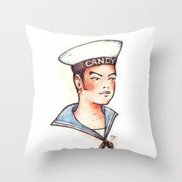 Sailor Boy tattoo Throw Pillow