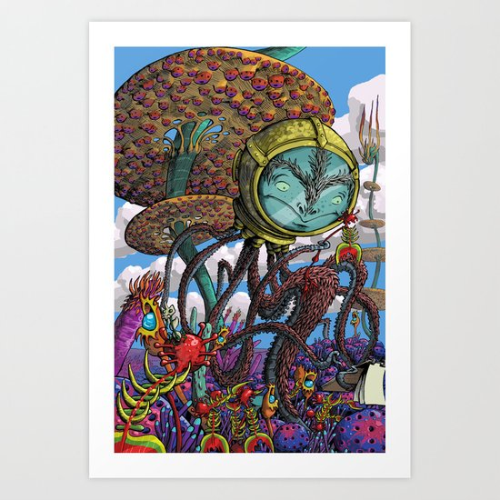 Otherworldly Ecologist Art Print