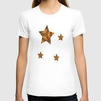 glee T-shirts featuring Christmas Goes Gold by Louisa Catharine Art And Patterns