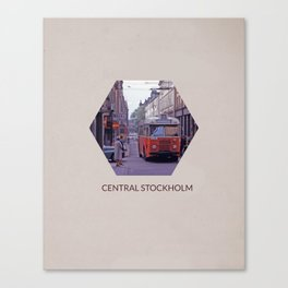 CENTRAL STOCKHOLM Canvas Print
