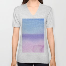 Bisexual Watercolor Wash Unisex V-Neck