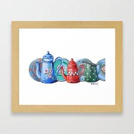 Jug and Teapots Framed Art Print