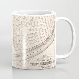 Vintage Map of New Brunswick NJ (1837) Coffee Mug