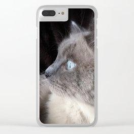 Ragdoll Profile Clear iPhone Case