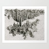 hong kong Art Prints featuring Hong Kong by BenSack