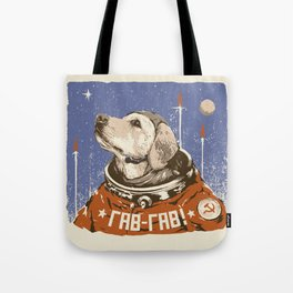 Soviet Space Dog Tote Bag