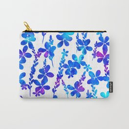Mystic blue flowers & leaves Carry-All Pouch