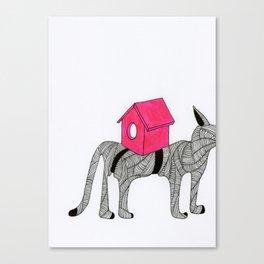 Cat-Snail Canvas Print