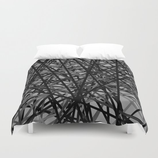 Kerplunk Extended Black and White Duvet Cover
