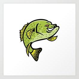 Crappie Fish Mascot Art Print
