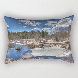 Early Spring Marsh Rectangular Pillow