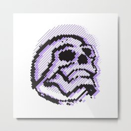 skull line Metal Print