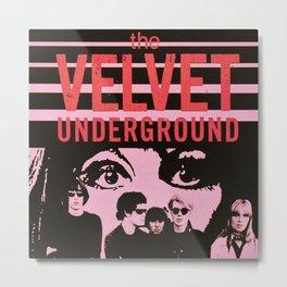 1968 Velvet Underground Concert Gig Vintage Advertising Poster Metal Print