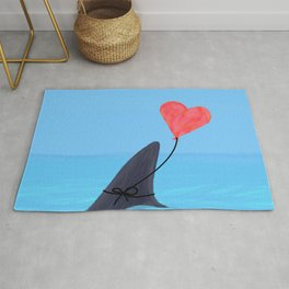 Original Shark Love Design Rug