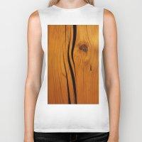 wooden Biker Tanks featuring Wooden texture by DistinctyDesign