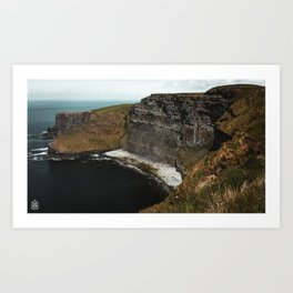 Scotland Cliff Side Art Print