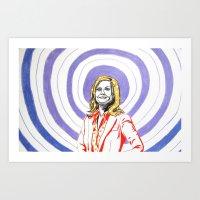 amy poehler Art Prints featuring Amy Poehler by Rachel Hoffman