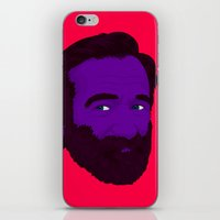 robin williams iPhone & iPod Skins featuring Robin Williams by Cédric Day-Myer