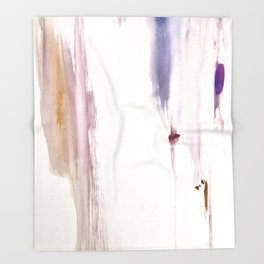 Sugar and Spice [2]: a minimal, pretty abstract piece in pinks, purple, mauve, and tan Throw Blanket