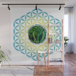 Pastel Petals Garden Gnome Fairy Flower of Life Wall Mural