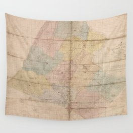 Vintage Map of Loudoun County Virginia (1861) Wall Tapestry
