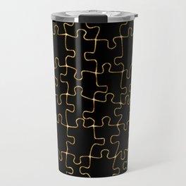 Golden puzzle Travel Mug