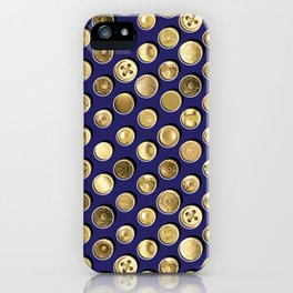 Gold Buttons Pattern iPhone Case