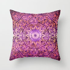 Mandala Pink Night Throw Pillow