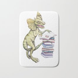 Dilophosaurus Loves Books Bath Mat