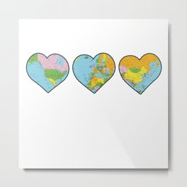 Heart Map Metal Print
