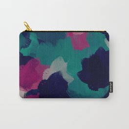 Dark Tropical Green Paint Carry-All Pouch