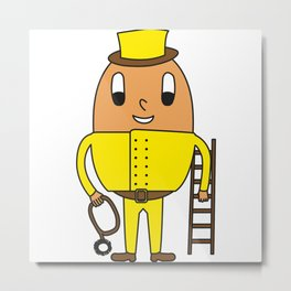 Egg Chimney-Sweeper Metal Print