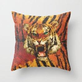 Set Me Free - Tiger Throw Pillow