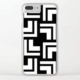Black and White - L1 Clear iPhone Case