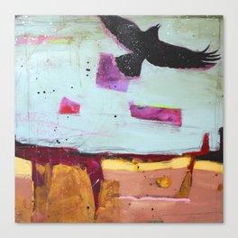 Denim Days 2 Crow Canvas Print