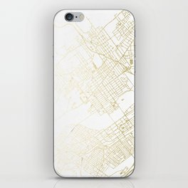 Wilkes-Barre Gold and White Map iPhone Skin