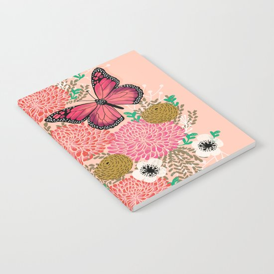 Monarch Florals by Andrea Lauren  Notebook