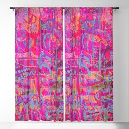 Pink Graffiti Blackout Curtain