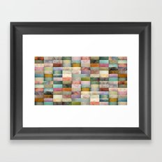 Patchwork Textures Framed Art Print